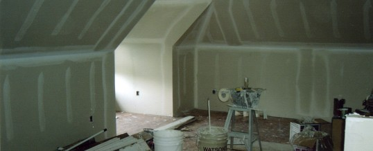 Drywall over steel framing